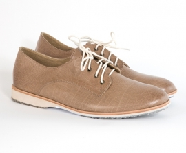 Derby Taupe Heavy Distressed Leather