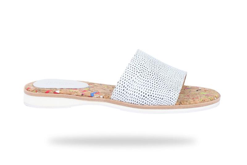 Sandal Slide Blue White Snake