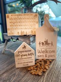 Sinterklaaspakket compleet -serveerplank Welkom Sint en Piet
