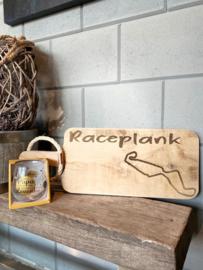 Cadeau pakket Race plank  circuit Assen + glas Lieve papa