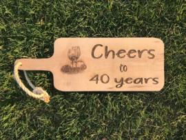 Eiken broodplank verjaardag / 40 jaar / 50 jaar
