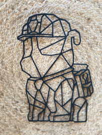 Muur-wanddecoratie geometrisch Paw patrol Rubble