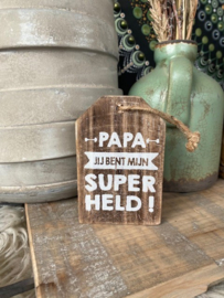 Houten hanger papa