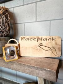 Cadeau pakket Race plank  circuit Assen + glas Lieve opa