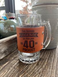 Bierpul Een levende legende en dan pas 40 -proost-