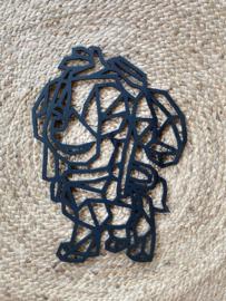 Muur- wanddecoratie geometrisch Paw Patrol Skye