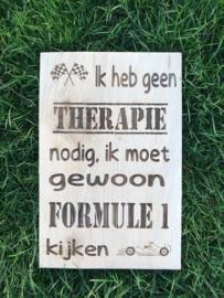 Tekstbordje Therapie