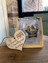 Waterwijn glas STER Dad you're always in my heart