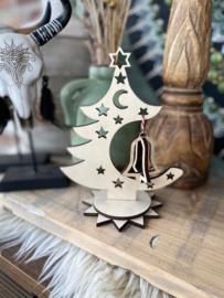 Kerstboompje met klokje