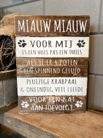 Tekstbord Miauw