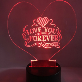 Led verlichting LOVE YOU FOREVER