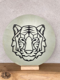 Muurcirkel tijger 3D