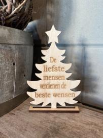 Kerstboompje staand De liefste mensen