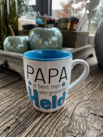 Mok met de tekst papa je bent mijn allergrootste held