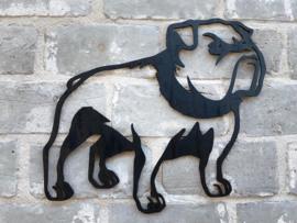 Muurdecoratie Bulldog