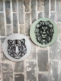 Muurcirkel combi leeuw en tijger 3D
