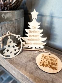 Combi kerstboompje + 2 hangers