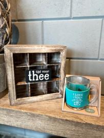 Cadeau pakket Theedoos + Theeglas