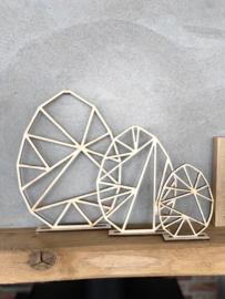 Set van 3 geometrische paaseieren