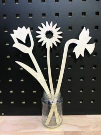 Klein bosje bloemen van hout