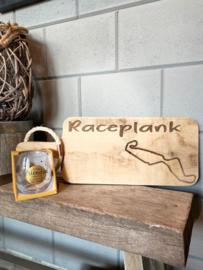 Cadeau pakket Race plank  circuit Assen + glas echte vrienden