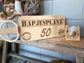 Cadeau pakket Broodplank + water-wijnglas Abraham