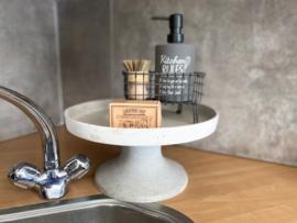 zeeppompje kitchen rules + stalen draad zeepbakje + puimsteentuinzeep + pannenborstel