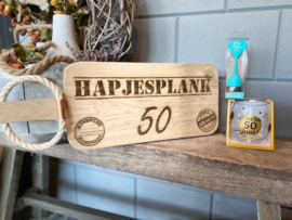 Cadeau pakket Broodplank + water-wijnglas  + theezeefje Abraham