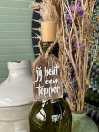 Houten hanger Topper
