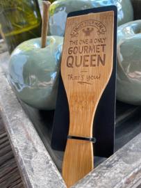 Gourmetspatel met de tekst; Gourmetqueen