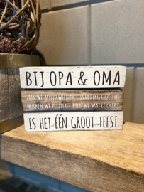 Tekstblok 3 balken Opa en Oma