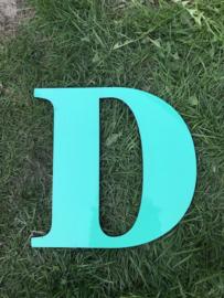 Letter + naam van hout