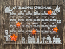 Aftelkalender van plexiglas
