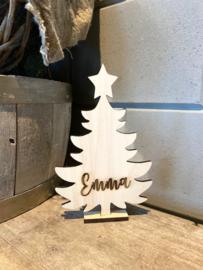 Kerstboompje gepersonaliseerd met naam