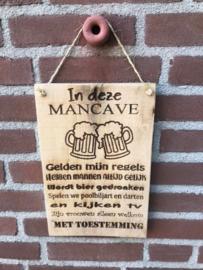 Tekstbordje Mancave Darten