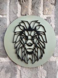 Muurcirkel leeuw 3D