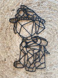 Muur-wanddecoratie geometrisch Paw patrol Marshall