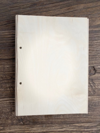 Houten kaft gastenboek