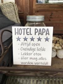 Tegeltje hotel Papa