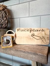 Cadeau pakket Race plank  circuit Assen + glas Vader
