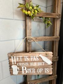 Tekstbord Bier