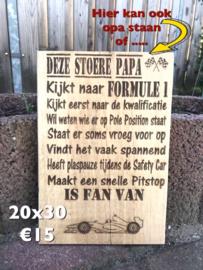 Deze stoere papa is fan van.....