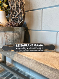 Tekstbord deegroller restaurant mama