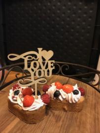 Taarttopper mini (cupcake/koek)