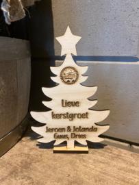 Kerstboompje gepersonaliseerd met naam en/of namen
