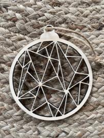 8x Kersthanger geometrisch