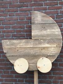Wieg van steigerhout (behandeld)