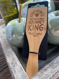 Gourmetspatel met de tekst; Gourmetking