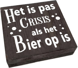 Tekstblok Het is pas crisis Grey