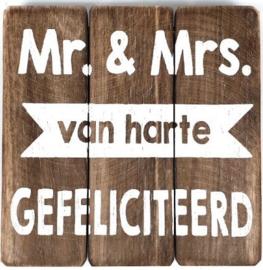 Tekstbord Mr & Mrs